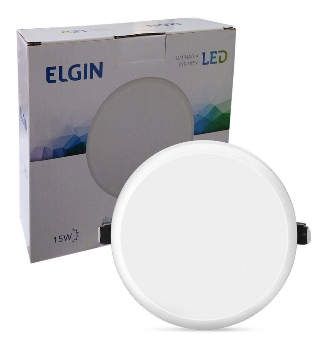 Plafon Luminária Infinity Led Redondo Embutir 15w Elgin  - EMPORIO K