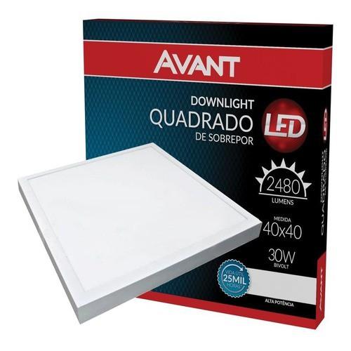 Plafon Led quadrado de sobrepor 40x40 30w Avant  - EMPORIO K