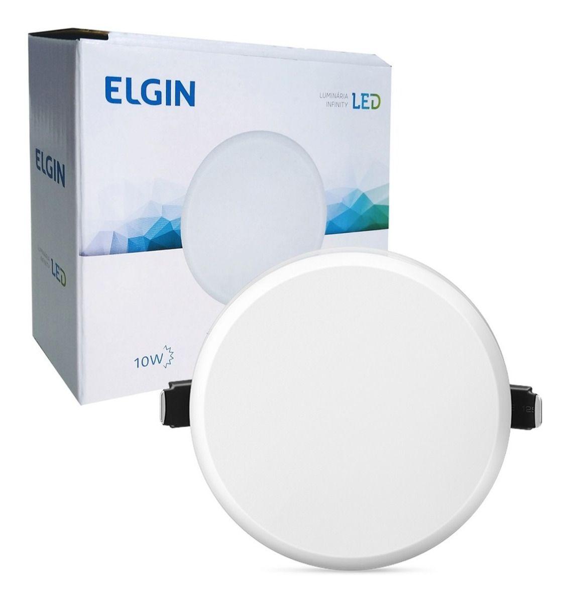 Plafon redondo infinity 10W BIV branco frio ELGIN  - EMPORIO K
