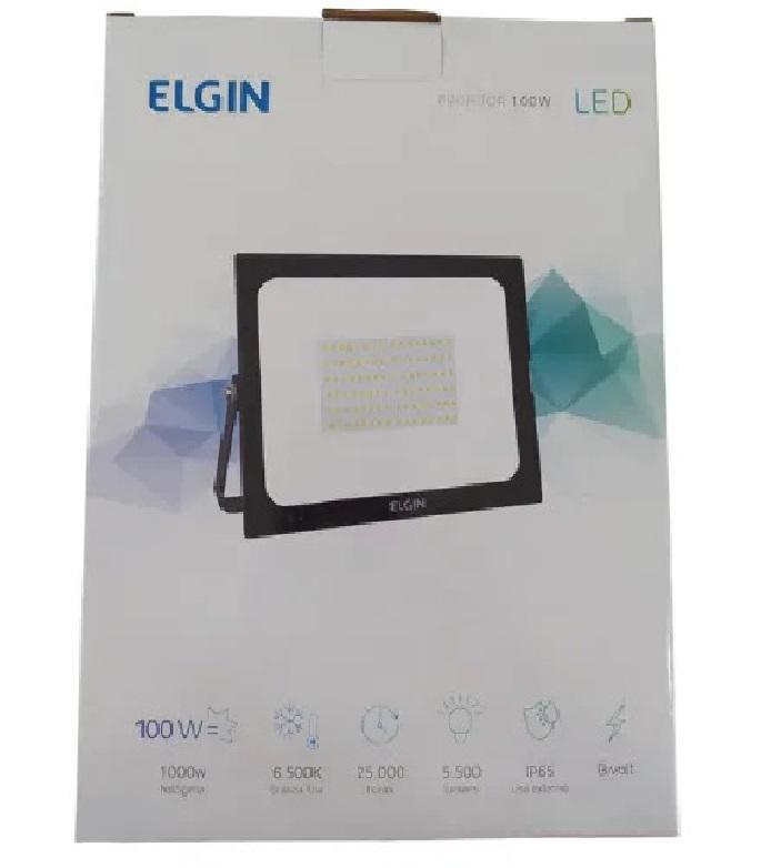 Refletor Elgin Led 100w Branco Frio 6500k Prova D
