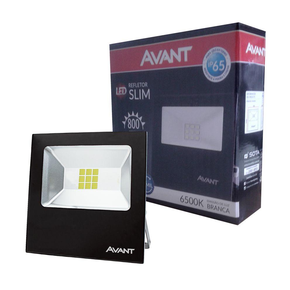 Refletor Led Cob Slm Ip65 branco frio 6500k 10w Avant  - EMPORIO K