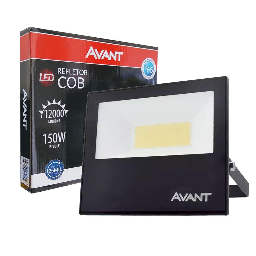 Refletor Led Cob Ip65 branco frio 6500k 150w Avant  - EMPORIO K