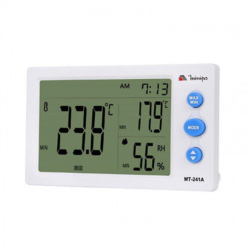 Relógio Termômetro Higrômetro Minipa Mt-241A 3x1 Com Sensor Externo  - EMPORIO K