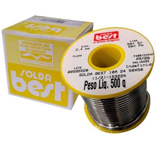 Solda Em Fio Best 10a 24 50x50 2.40 Mm Amarela Rolo 500g  - EMPORIO K
