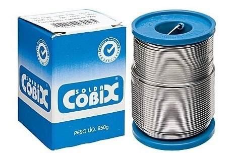 Estanho Solda Fluxo Cobix 250g Azul 60x40 1mm  - EMPORIO K