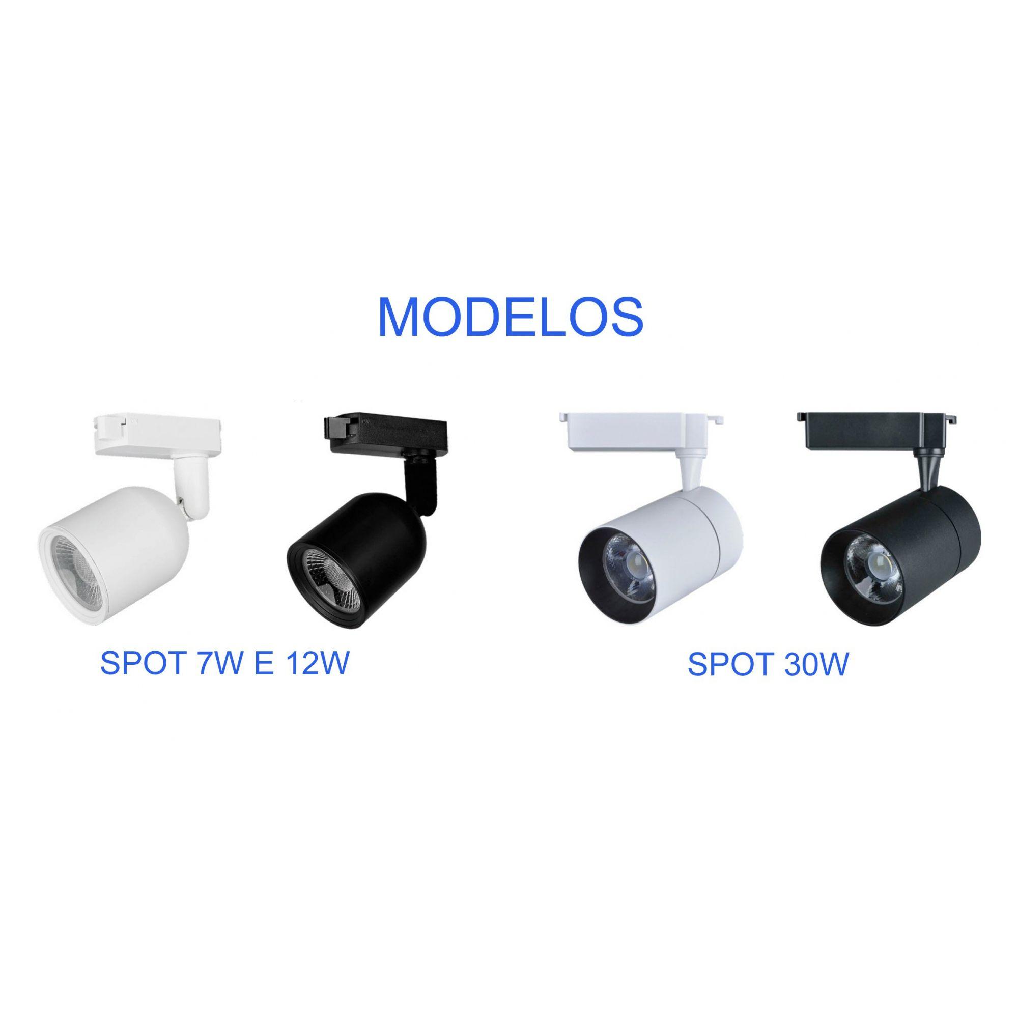 Spot de Trilho Elegance Branco 7w Bivolt Avant  - EMPORIO K