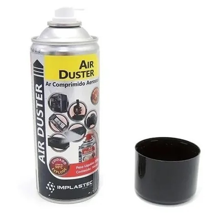 Spray De Ar Comprimido 200g/164ml Air Duster Implastec  - EMPORIO K
