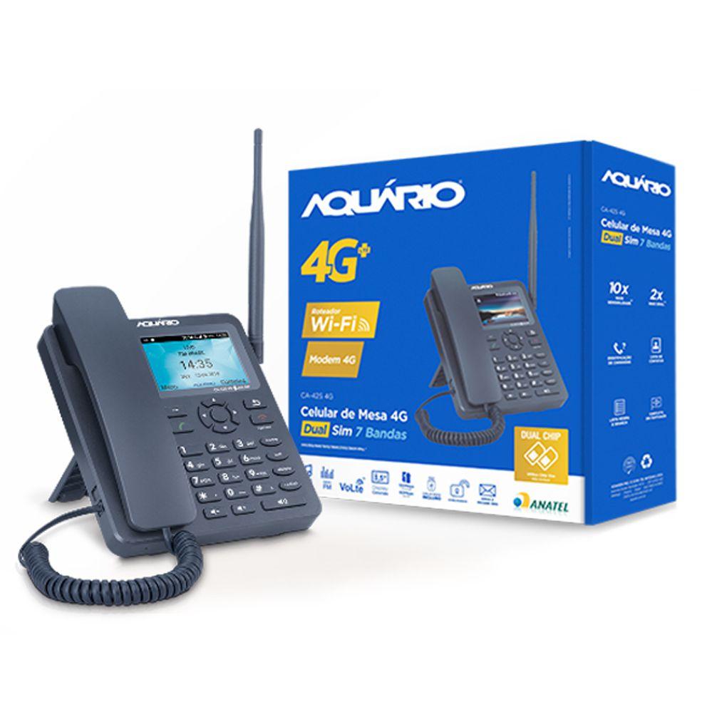 Telefone Celular De Mesa 4g Lte 3g Wi-fi Ca-42s 4g Aquário  - EMPORIO K
