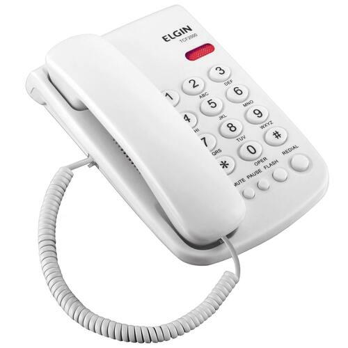 Telefone com fio Elgin TCF 2000 - Branco  - EMPORIO K