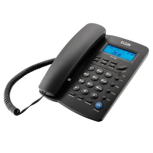 Telefone com fio Elgin TCF 3000 - Preto  - EMPORIO K