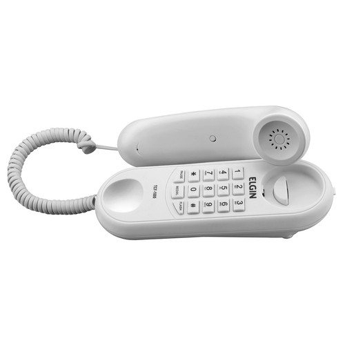 Telefone Elgin Com Fio Modelo Gôndola Tcf 1000 Branco  - EMPORIO K