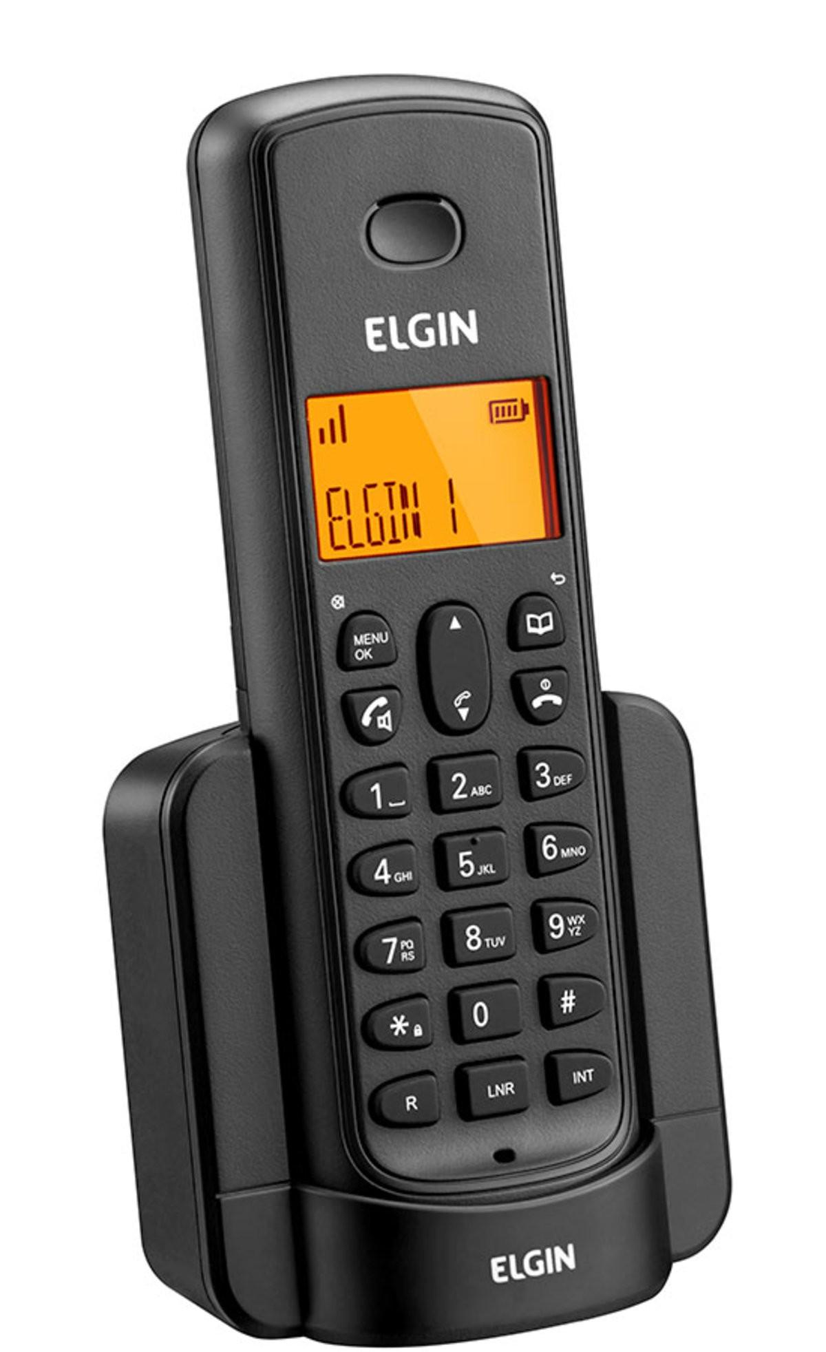 Telefone sem fio Elgin TSF 8002 - Preto  - EMPORIO K