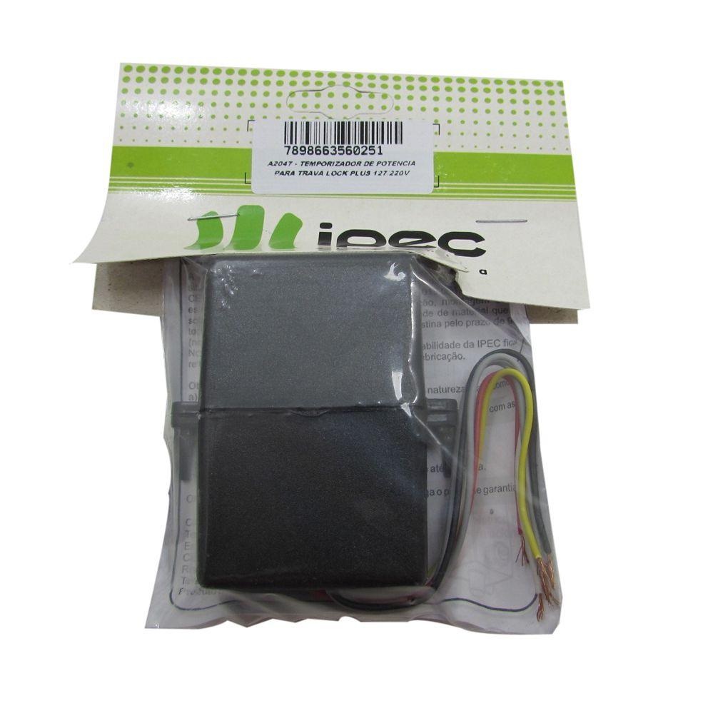 Temporizador Portão Eletrônico Universal Ipec A2047 até 2 Travas  - EMPORIO K