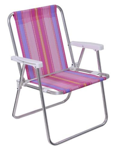 Kit Carrinho de Praia + 4 Cadeiras Alta de Alumínio - Loja Portal