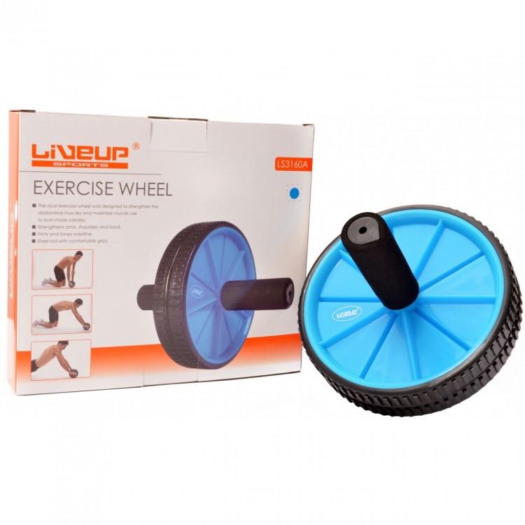Roda De Exercícios Azul - LiveUp - Loja Portal