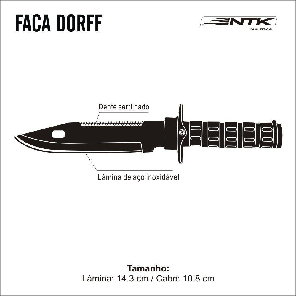 Faca Tática Dorff com Kit Sobrevivência - Nautika - Loja Portal