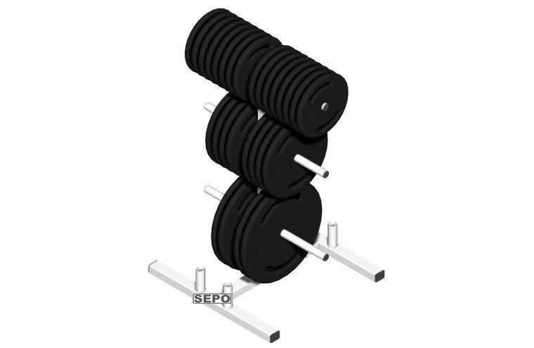 Suporte Para Anilhas + Barras(04) Até 300kg - Profissional