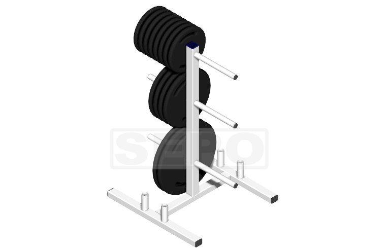 Suporte Para Anilhas + Barras(04) Até 300kg - Profissional - Loja Portal