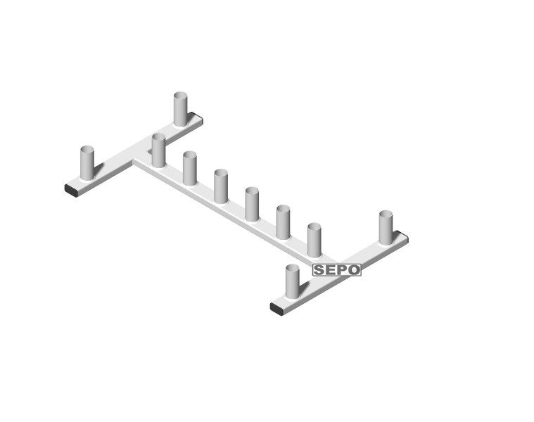 Suporte para 10 Barras Musculação De Chão Vertical