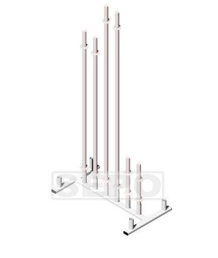 Suporte para 10 Barras Musculação De Chão Vertical - Loja Portal
