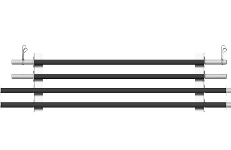 Suporte de Parede para 4 Barras de Musculação - Branco - Loja Portal