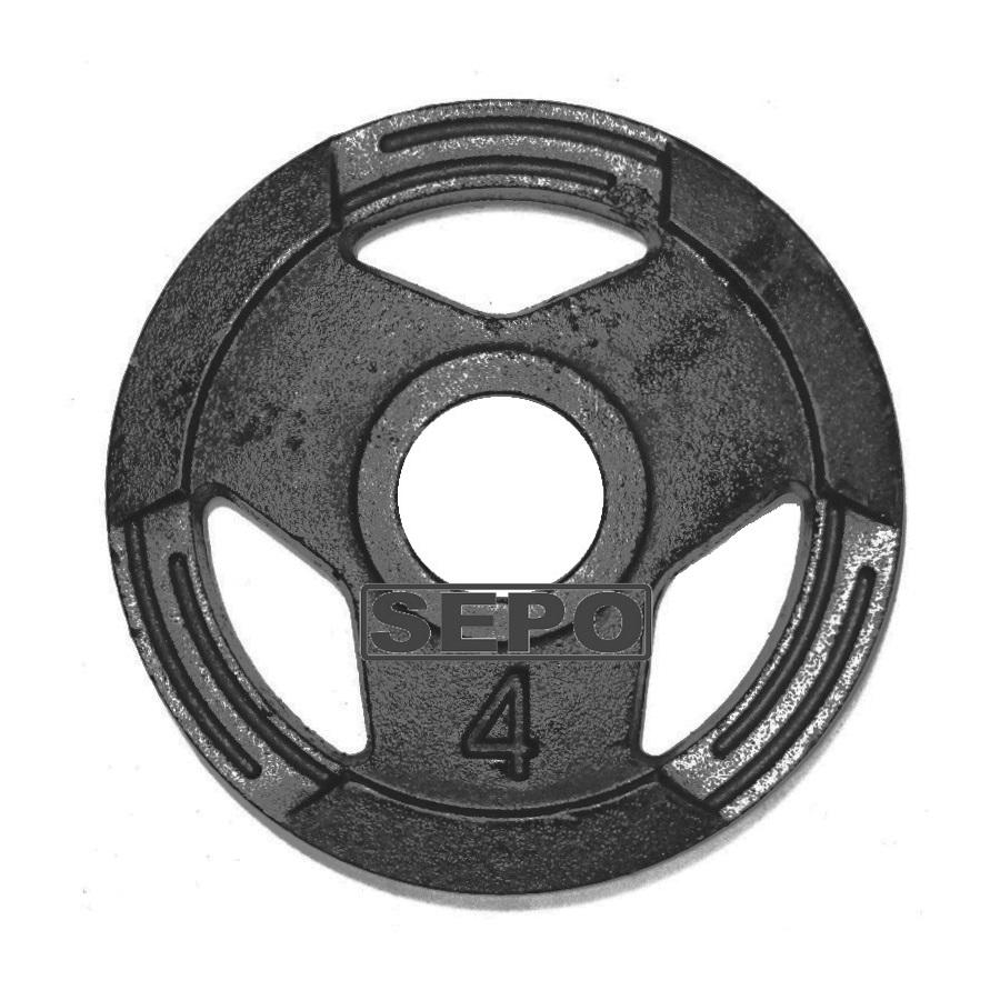 Anilha Sport Luxo com Furação Olímpica - 4 Kg - Loja Portal