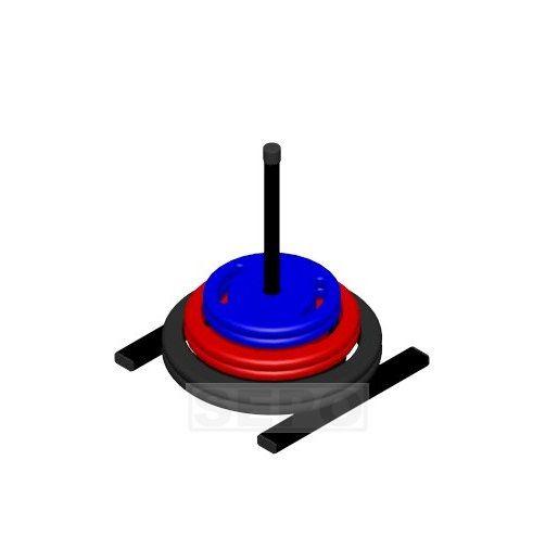 Suporte Vertical de Chão para Anilhas Furação Comum - Loja Portal