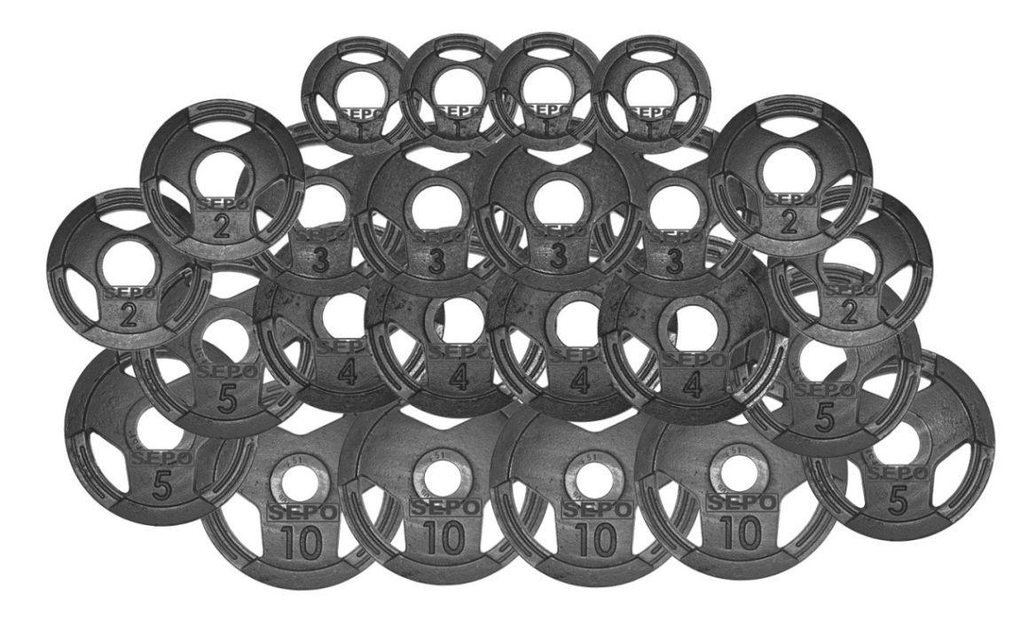 Kit de Anilhas Sport Luxo com Furação Olímpica - 100Kg
