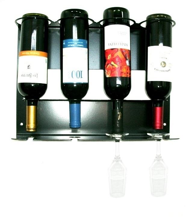 Adega Vinho de Parede para 4 Garrafas e 4 Taças - Loja Portal
