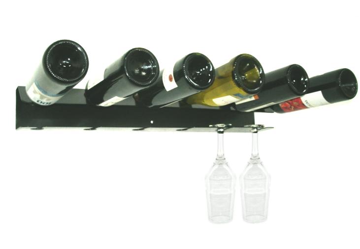 Adega de Parede para 6 Garrafas de vinho e 6 Taças - Loja Portal