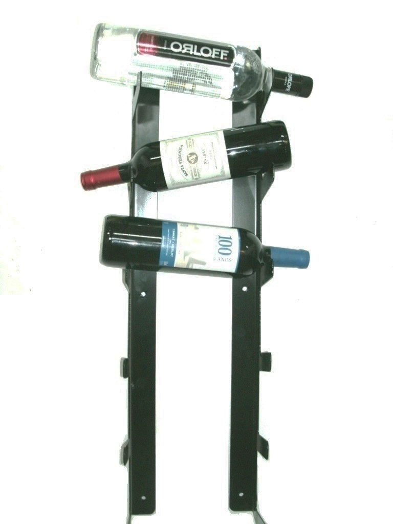 Suporte para até 06 Garrafas de Vinho, Vodka e/ou Whisky - Loja Portal
