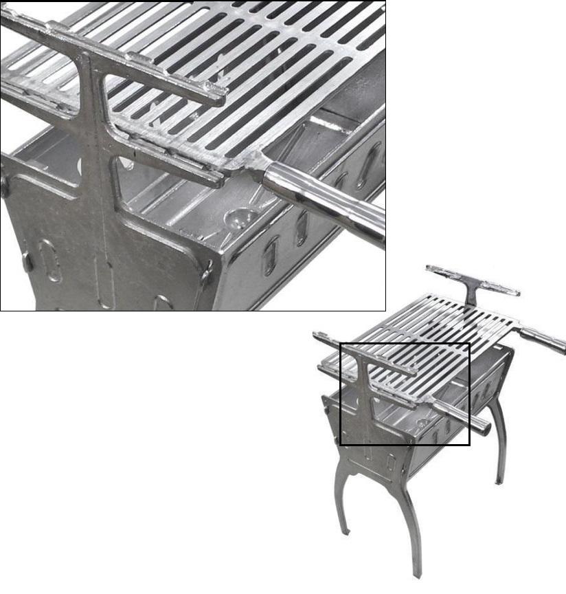 Churrasqueira Aluminio Desmontável - Loja Portal