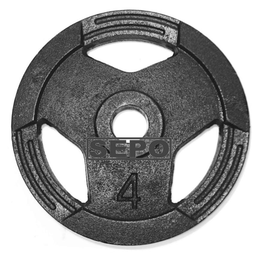 Anilha Sport Luxo - 4 Kg - Loja Portal