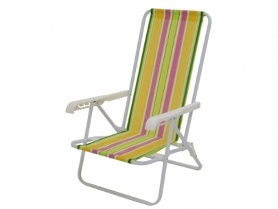 Cadeira Reclinável 4 Posições Aço - Mor - Loja Portal