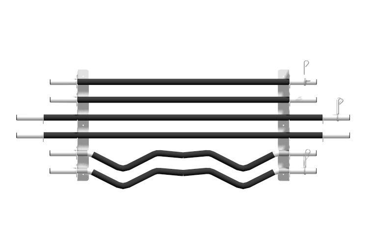 Suporte de Parede para 6 Barras de Musculação - Branco  - Loja Portal