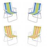 Kit Com 04 Cadeiras Alta - Mor