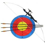 Arco Xavante com 3 Flechas e Alvo 48 Libras Nautika