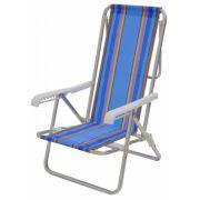 Cadeira Reclinável Alumínio 8 Posições - Mor