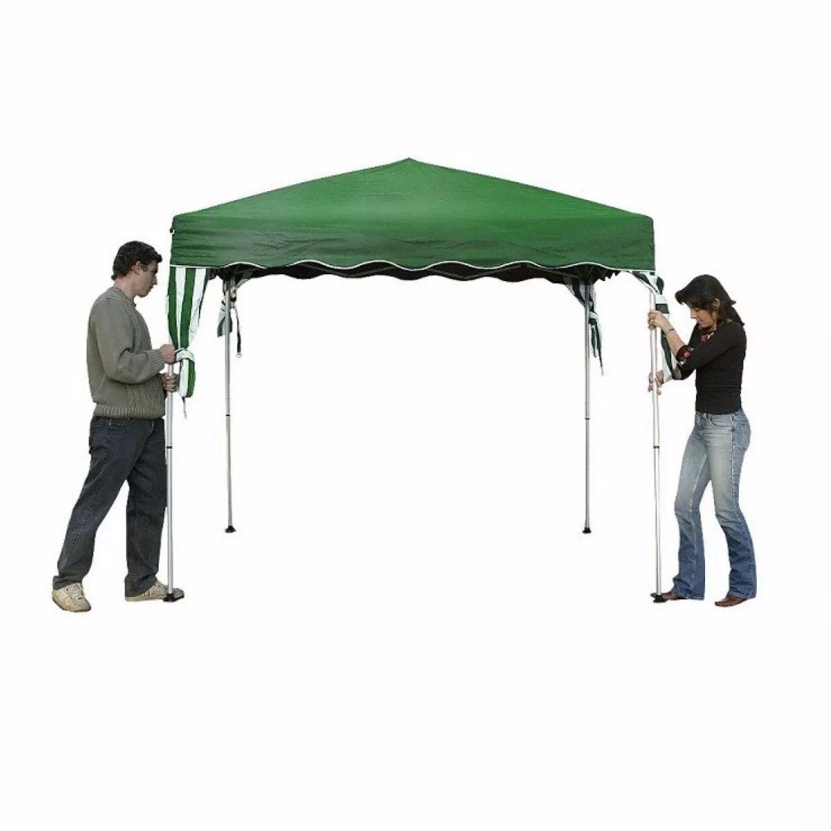 Tenda Gazebo Dobrável Base 2,4mX2,4m Verde Inclinada - Belfix - Loja Portal