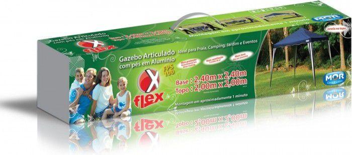 Gazebo X-Flex Oxford com Silvercoating Azul 3m x 3m  - Loja Portal
