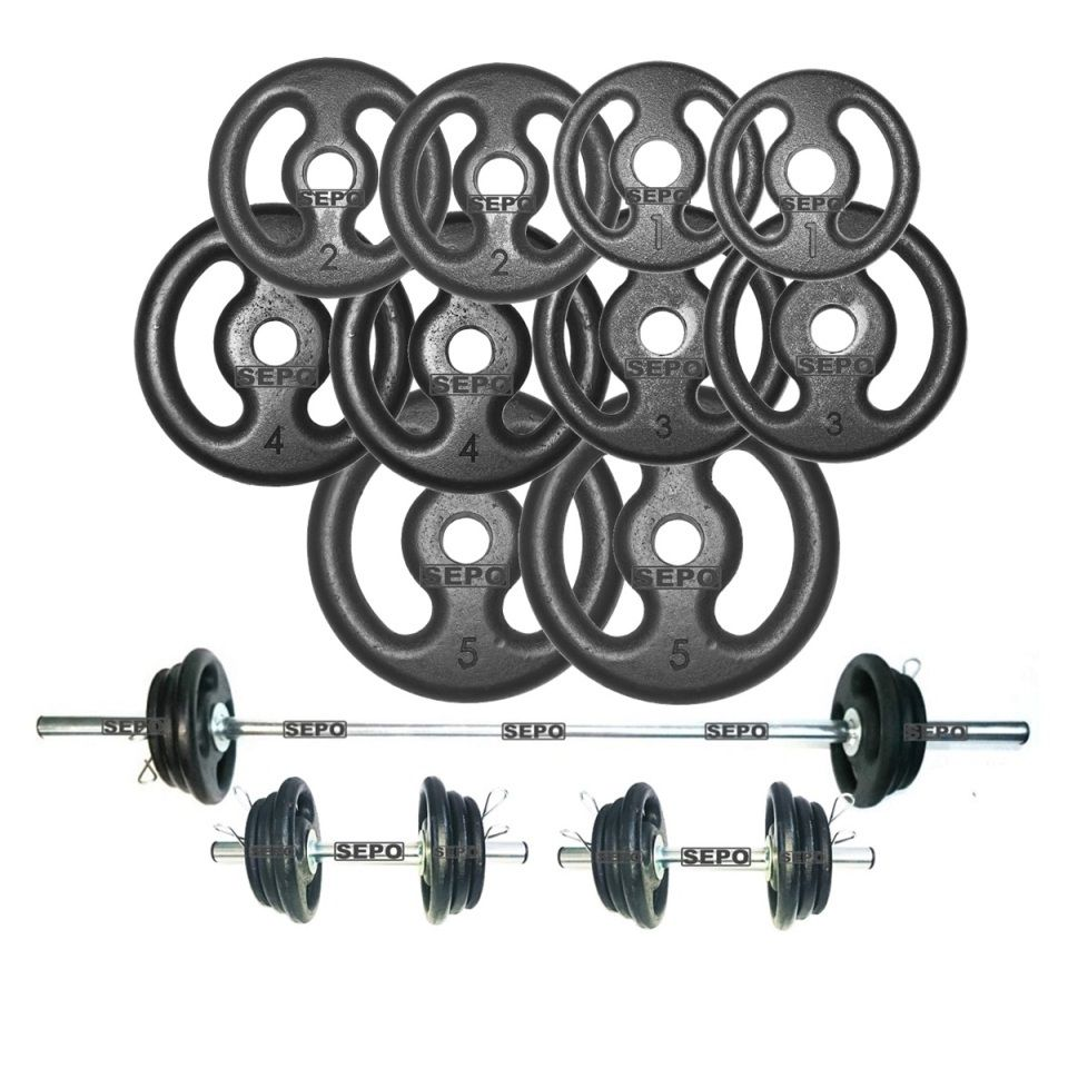 Kit Completo Para Fitness Anilhas e Barras - Loja Portal