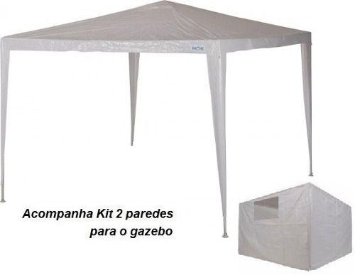 Tenda Gazebo Ráfia Base e Topo 3mx3m + Conjunto de Paredes Laterais Ráfia - Mor - Loja Portal