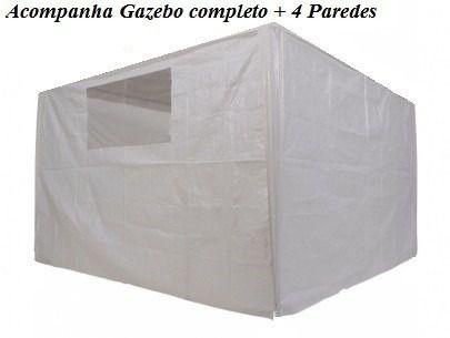 Tenda Gazebo Dobrável Sanfonada 3x3m Com 04 Paredes - Mor  - Loja Portal