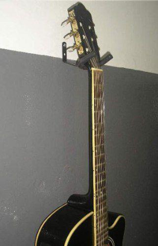 Kit com 01 Suporte de Parede + 01 de Chão para Violão, Guitarra ou Baixo  - Loja Portal