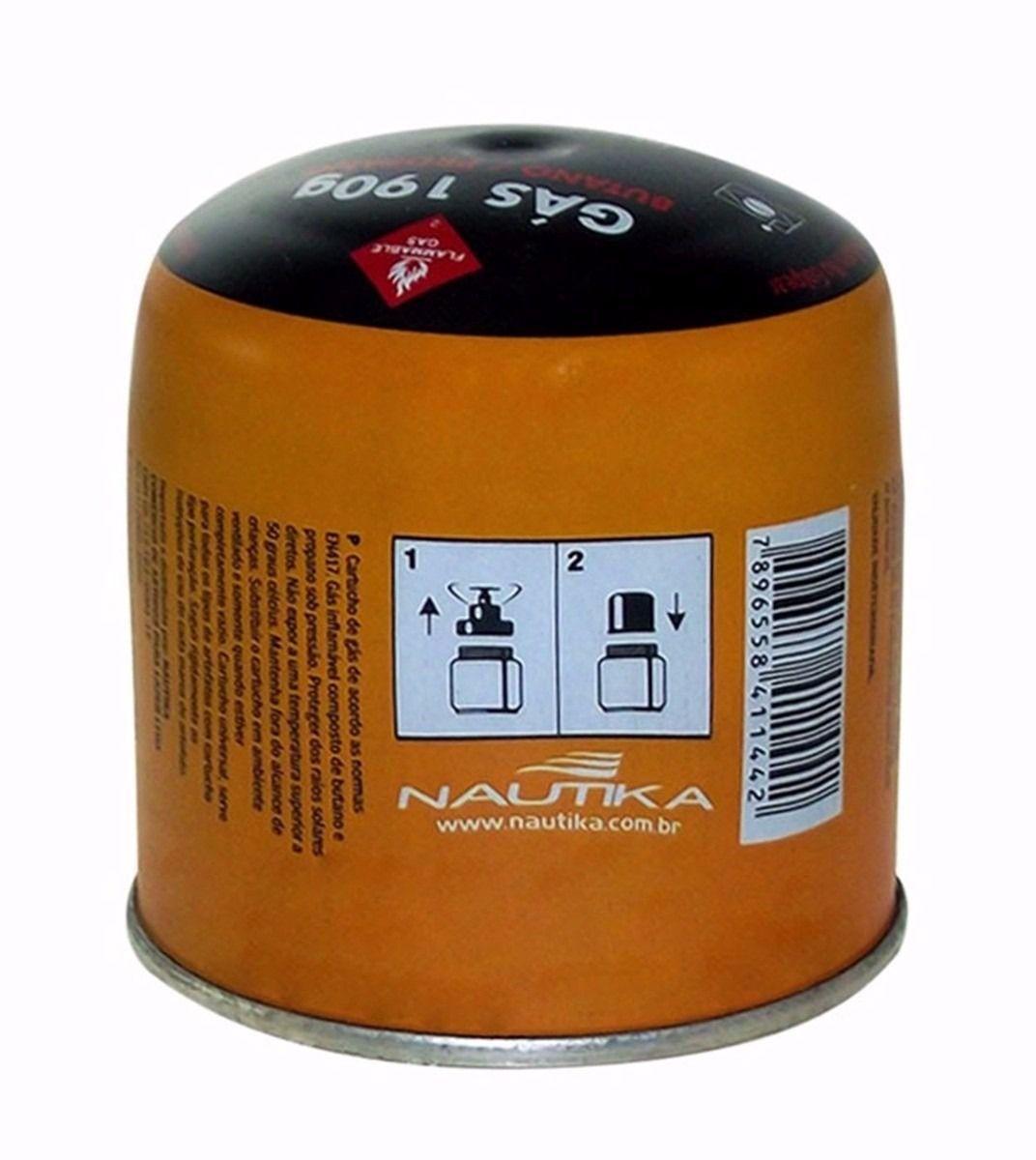 Cartucho de Gás para Lampiões ou Fogareiros 190g - Nautika  - Loja Portal