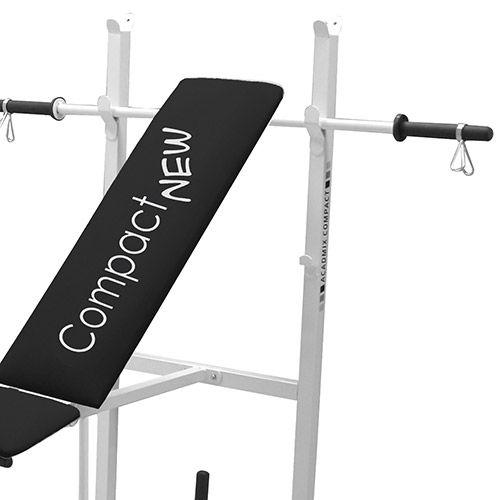 Academia Academix Compact New Branco com 24Kg de Anilhas - Loja Portal