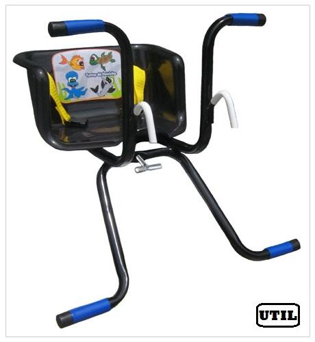 Cadeirinha Infantil para Bicicleta Stilo Básica Preta - Loja Portal