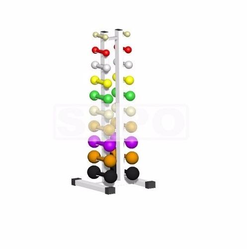 Torre Suporte para 20 Halteres de Chão Branco - Loja Portal