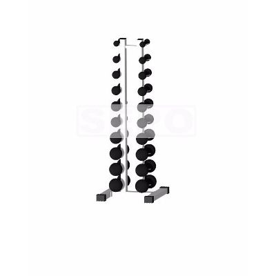 Torre Suporte Completo + 20 Halteres de Ferro Fundido de 1 a 10 Kg