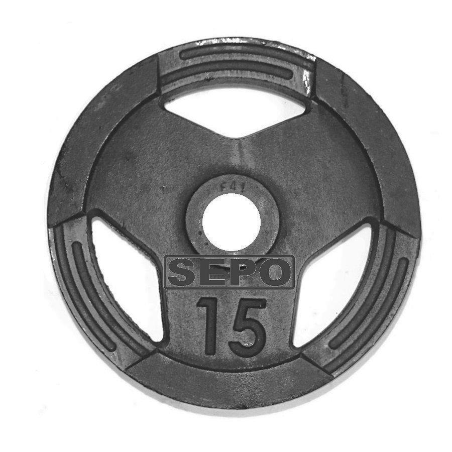 Anilha Sport Luxo com Furação Olímpica - 15 Kg  - Loja Portal